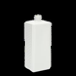 1000 ml Vierkantflasche PCR HDPE - weiß - DIN 25
