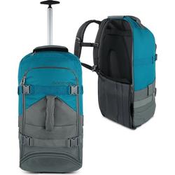 normani Reisetasche Reisetasche mit Rucksackfunktion 60 Liter Melano, Rucksack und Trolley in Einem grau