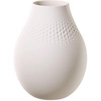 Blanc Vase Perle hoch 16x16x20 cm