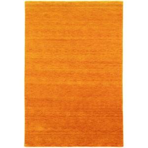 Wollteppich GABBEH FEIN UNI, morgenland, rechteckig, Höhe 18 mm, reine Schurwolle, uni, Wohnzimmer orange 40 cm x 60 cm x 18 mm