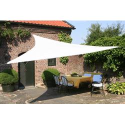 Dreiecksonnensegel weiß 360 cm mit Regenschutz