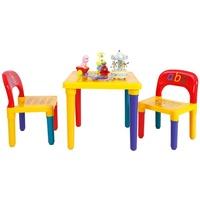 Costway Kindersitzgruppe Kindersitzgruppe, (Set, 3-tlg), mit 2 Kinderstühlen bunt