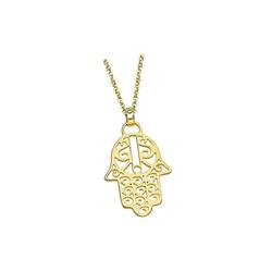 LOTUS SILVER Kette mit Anhänger JLP1849-1-2 Lotus Silver Hand der Fatima Halskette (Halsketten), Halsketten für Damen 925 Sterling Silber, gold