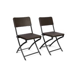 VANAGE Klappstuhl VG-4857 (2 Stück), Klappbare Gartenstühle im 2er Set, braun