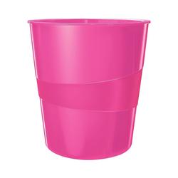 LEITZ Papierkorb WOW 5278, mit integriertem Tragegriff rosa