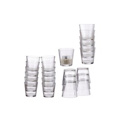 relaxdays Teelichthalter 24 x Teelichtgläser