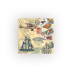 HOME FASHION Papierserviette Weltreise, (5 St), 33 cm x 33 cm