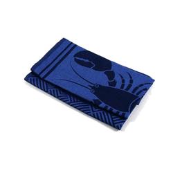 Aymando Geschirrtuch Navy Blue, (Spar Set, 2-tlg., 50x70cm), Poliertuch Trockentuch 2 Stück 50x70cm reine Bio Baumwolle im Design Lobster Dinner blau
