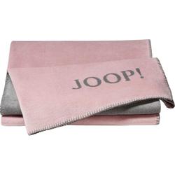 Wohndecke JOOP! UNI-DOUBLEFACE, Joop!, mit JOOP! Logo rosa