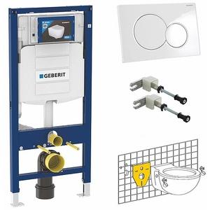 Geberit WC-Element Duofix SIGMA 112 cm + SIGMA01 Platte weiß + Wandhalter + Gratis Schallschutzset