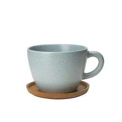 Höganäs Keramik Höganäs Keramik TeeBecher 500 ml mit Holzuntersetzer Frost matt