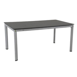 MWH Alutapo Gartentisch 160x95 cm Aluminium/Creatop Basic Dunkelgrau|Hellgrau