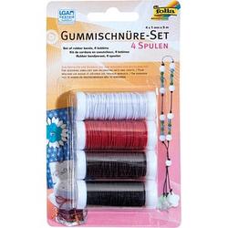folia Gummifaden Set 4 Farben