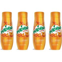 SodaStream Getränke-Sirup Mirinda, 4 Stück, für bis zu 9 Liter Fertiggetränk