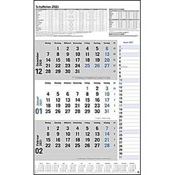 3-Monats-Planer Klappfälzel 2021 - Kalender