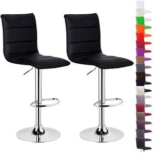 Barhocker Barstuhl Design Stuhl drehbar Kunstleder Chrom mit Lehne #719-24