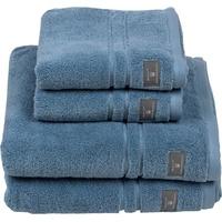 GANT Waschlappen Premium (4-tlg), hochwertiges Zero-Twist Garn blau