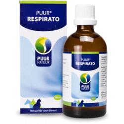 Puur Respirato (luchtwegen) voor hond, kat en paard  3 x 100 ml