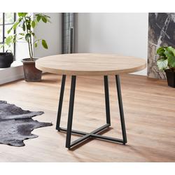 Home affaire Esstisch Anja beige Esstische rund oval Tische