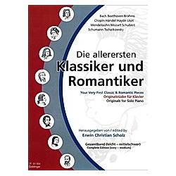 Die allerersten Klassiker und Romantiker  für Klavier  Gesamtband - Buch
