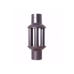 acerto® Rohr acerto® Abgaswärmetauscher 160x650mm schwarz