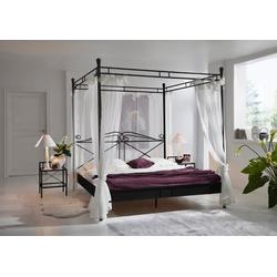 SAM® Himmelbett Falun, Doppelbett Himmelbett 180cm schwarz schwarz