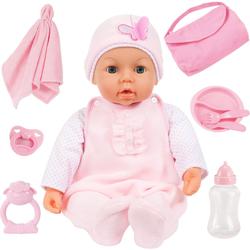 Bayer Babypuppe Piccolina Magic Eyes, rosa (Set, 9-tlg)