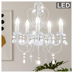 etc-shop Kronleuchter, 15 Watt LED Kronleuchter Decken Lampe Lüster Hängelampe Beleuchtung Metall PINJA