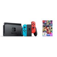Nintendo Switch neon-rot / neon-blau + Mario Kart 8 Deluxe