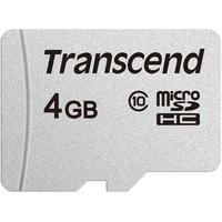 Transcend microSDHC 4GB Class 10 300S UHS-I U1 + SD-Adapter