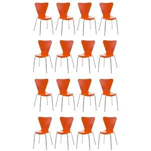 CLP Besucherstuhl Calisto stapelbar orange