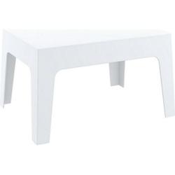 CLP Gartentisch Box Kunststoff I Stapelbarer Beistelltisch I Wetterfester Outdoor-Tisch... weiß