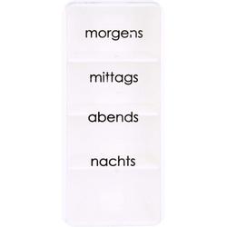 TABLETTENDOSE mo/mi/ab/na m.Blindenschrift 1 St.