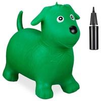 Relaxdays Hüpftier Hund grün