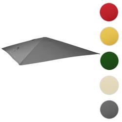Bezug für Luxus-Ampelschirm HWC-A96, Sonnenschirmbezug Ersatzbezug, 3x3m (Ø4,24m) Polyester 2,7kg ~ anthrazit