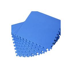 HOMCOM Puzzlematte Puzzlematte als 8-teiliges Set, Puzzleteile blau