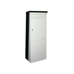 SafePost Briefkasten SafePost Eurotrend No.1 großer Standbriefkasten schwarz weiss 100 x 35,5 cm Briefkasten 901110