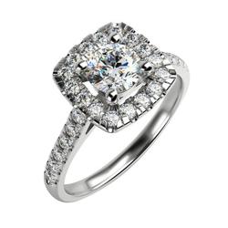 Diamanten-Verlobungsring aus Gold Deity