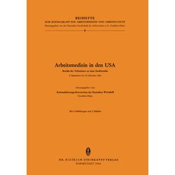 Arbeitsmedizin in den USA als Buch von
