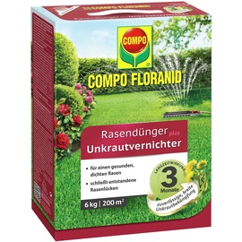 Compo Floranid Rasendünger plus Unkrautvernichter 6 kg