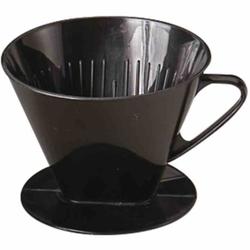 WESTMARK Two Kaffeefilter , Hochwertiger und schwer zerbrechlicher Kaffeefilter in schwarz, Größe: 13,2 x 11,0 x 8,8 cm