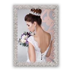 matches21 HOME & HOBBY Bilderrahmen Bilderrahmen / Fotorahmen mit Blumenmuster, (1 Stück), Hochzeit 12.58 cm x 17.5 cm x 2.5 cm