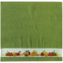 framsohn Geschirrtuch Zwirn ''Pasta'' 50 x 50 cm Moos - Grün