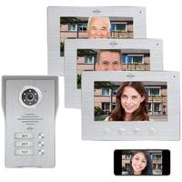 ELRO DV477IP3 Video-Türsprechanlage (Außenbereich, Innenbereich, Türsprechanlage mit Kamera und Monitor - Video Türklingel für 3 Familienhaus
