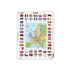 Larsen Puzzle Rahmen-Puzzle, 70 Teile, 36x28 cm, Europa Länder &, Puzzleteile