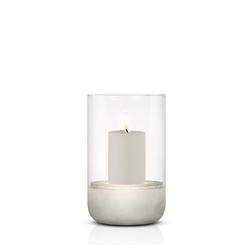 BLOMUS Pure Home Kerzenständer Windlicht CALMA M mit einer Kerze