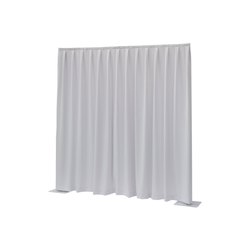 Wentex Pipes & Drapes Vorhang Molton, 3x4m, 300g/m², weiß