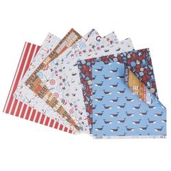 VBS Motivpapier Scrapbook-Papierset Maritim, 30,5x30,5 cm 8 Blatt