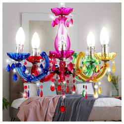 etc-shop Kronleuchter, LED 15 Watt Kronleuchter Decken Lampe Chrom Luster Pendel Leuchte Wohnzimmer EEK A+