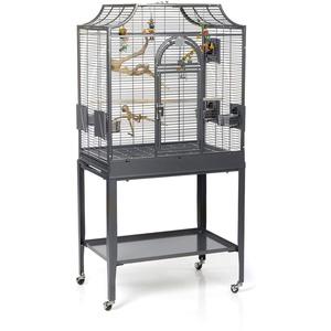 Montana Cages ®   Sittichkäfig, Käfig, Voliere Madeira I - Antik für Sittiche waagerechte Verdrahtung & Anflugklappe